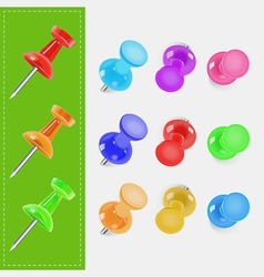 Various color pin vector image