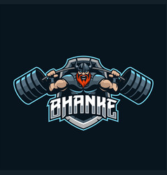 viking mascot logo esport vector image