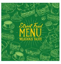 vintage food menu vector image