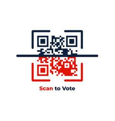 voting online concept qr code scan to vote vector image