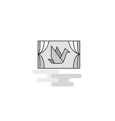 window web icon flat line filled gray icon vector image