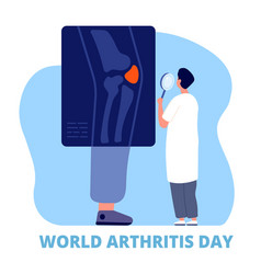 World arthritis day medicine concept defense vector