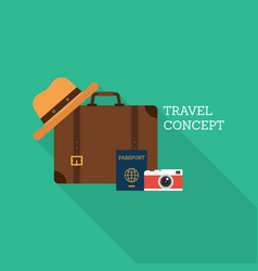 world travel concept flat design vector image