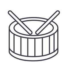 drums line icon sign on vector image