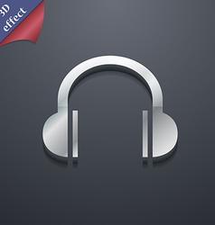 headphones icon symbol 3D style Trendy modern vector image