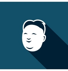 Korean mens head icon vector image vector image