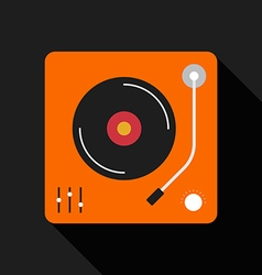 Retro vintage gramophone flat design isolated icon vector image vector image