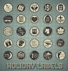 Set mix of holiday labels vector