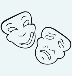Theatrical mask vector image vector image