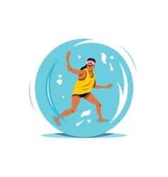 Water Zorbing Cartoon vector image vector image