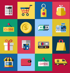 digital blue red shopping vector image