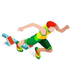 Running 2016 Sports Isometric 3D vector image vector image