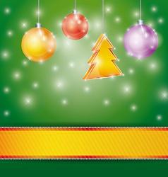Celebration light background with ribbon Christmas vector image
