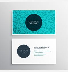 Elegant corporate business card identity vector