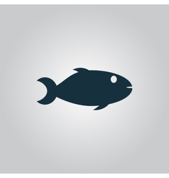 Fish icon on white background vector image