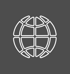icon earth vector image