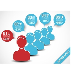 INFOGRAPHIC MODERN PEOPLE BUSINESS BLUE vector image vector image