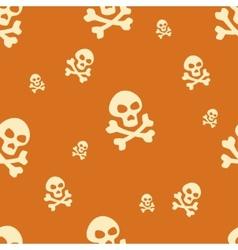 Skull Pattern Orange vector image vector image