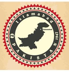 Vintage label-sticker cards of pakistan vector
