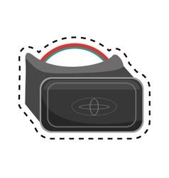 vr glasses smart high technology design cut line vector image