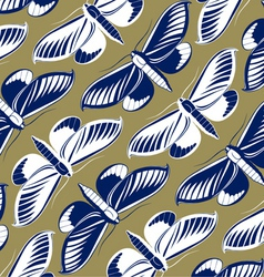 butterfly pattern background vector image vector image