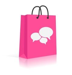 Concept Shopping Talks Customer Feedback Shopping vector image vector image