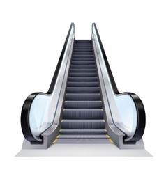 Realistic Escalator vector image vector image