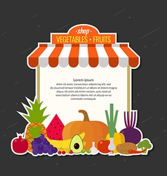 Store fresh vegetables and fruits Organic food vector image vector image