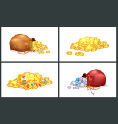 treasures collection posters vector image