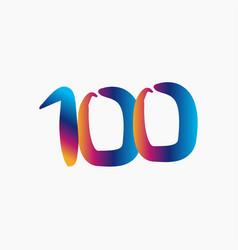 100 years anniversary template design vector