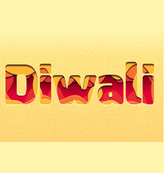 3d inscription of the festival diwali made of vector