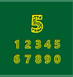 5 anniversary celebration bubble yellow number vector