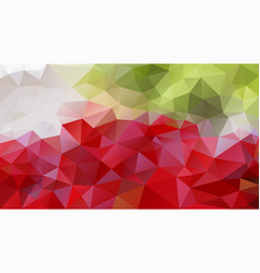 Abstract irregular polygon background red green vector