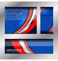 America Banners Template vector