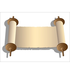 Ancient scroll vector