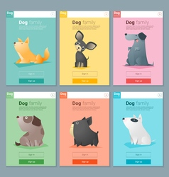 Animal banner with Dog for web design 3 vector