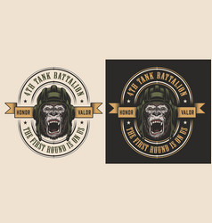 Apparel design with gorilla vector