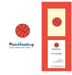 basket ball creative logo and business card vector image