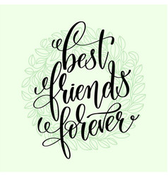 Best friends forever handwritten lettering vector