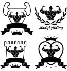 Bodybuilding vector image