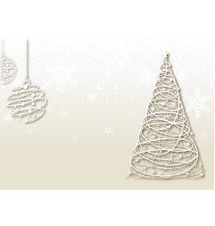 bright christmas background with wire decorations vector image