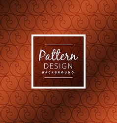 brown circle pattern design vector image