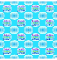Bubble bump football equipment seamless pattern vector image
