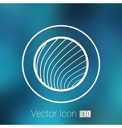 Button glass orb disco icon round vector