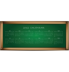 calendar on school board vector image
