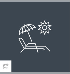 chaise lounge related line icon vector image