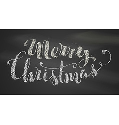 Chalk merry christmas lettering vector