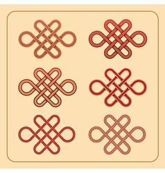 Chinese endless knot vector