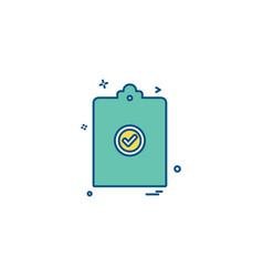 clip board paper-board page paper icon desige vector image