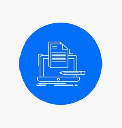 coder coding computer list paper white line icon vector image